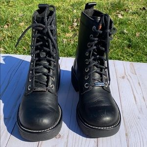 Harley Davidson Black Liberator Lace Up Boots